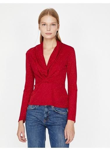 Koton V Yaka Bluz Kırmızı